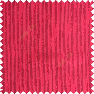 Maroon color vertical stripes texture finished lines water drops flowing polyester main curtain fabric