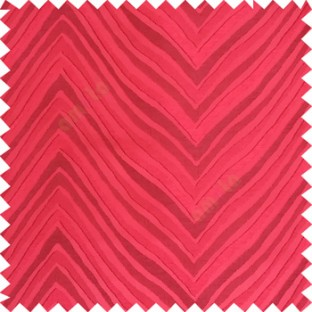Maroon color zigzag pattern fluctuating lines texture up and down lines with smooth finished background polyester main curtain fabric