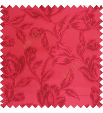 Maroon color Beautiful flower pattern texture finished designs smooth finished background polyester main curtain fabric