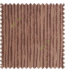 Dark brown color vertical stripes texture finished lines water drops flowing polyester main curtain fabric
