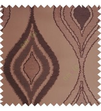 Dark brown color beautiful design floral pattern texture finished surface with smooth background main curtain fabric