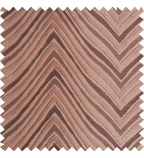 Dark brown color zigzag pattern fluctuating lines texture up and down lines with smooth finished background polyester main curtain fabric