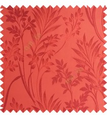Orange color beautiful design floral pattern texture finished surface with smooth background main curtain fabric