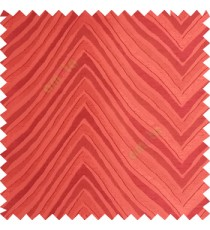 Orange color zigzag pattern fluctuating lines texture up and down lines with smooth finished background polyester main curtain fabric