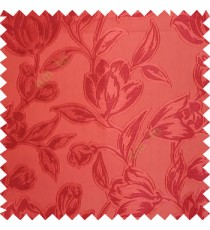 Orange color Beautiful flower pattern texture finished designs smooth finished background polyester main curtain fabric