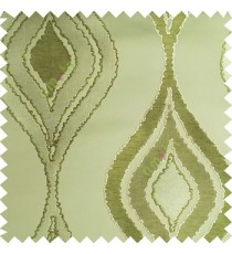 Green color beautiful design floral pattern texture finished surface with smooth background main curtain fabric