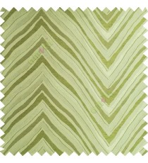 Green color zigzag pattern fluctuating lines texture up and down lines with smooth finished background polyester main curtain fabric