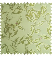 Green color Beautiful flower pattern texture finished designs smooth finished background polyester main curtain fabric