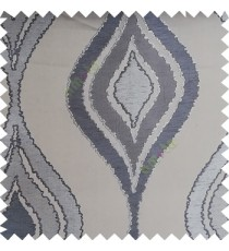 Grey blue color beautiful design floral pattern texture finished surface with smooth background main curtain fabric