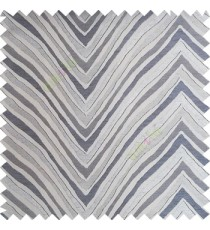 Grey blue color zigzag pattern fluctuating lines texture up and down lines with smooth finished background polyester main curtain fabric