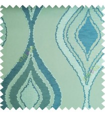 Blue green color beautiful design floral pattern texture finished surface with smooth background main curtain fabric