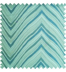 Blue green color zigzag pattern fluctuating lines texture up and down lines with smooth finished background polyester main curtain fabric