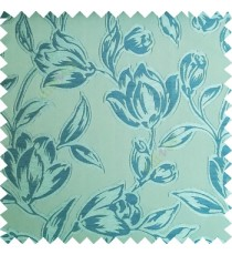 Blue green color Beautiful flower pattern texture finished designs smooth finished background polyester main curtain fabric