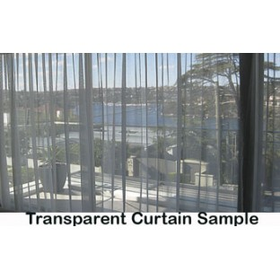 Brown beige color horizontal lines transparent material net finished see through polyester curtain fabric