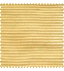 Gold color horizontal chenille stripes texture finished with polyester transparent net fabric embossed lines sheer curtain