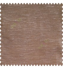Brown beige color horizontal thin sparkle lines with transparent net fabric polyester sheer curtain