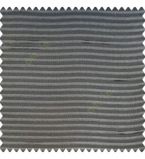 Grey color horizontal chenille stripes texture finished with polyester transparent net fabric embossed lines sheer curtain
