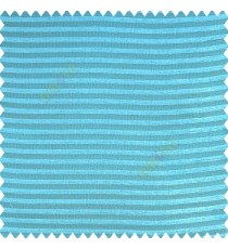 Blue color horizontal chenille stripes texture finished with polyester transparent net fabric embossed lines sheer curtain