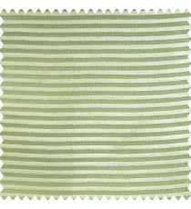 Light green color horizontal chenille stripes texture finished with polyester transparent net fabric embossed lines sheer curtain
