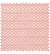 Light pink color solid texture surface with concave square oval shape horizontal spring lines vertical small fine stripes poly main curtain