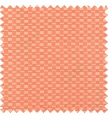 Peach pink color solid texture surface with concave square oval shape horizontal spring lines vertical small fine stripes poly main curtain