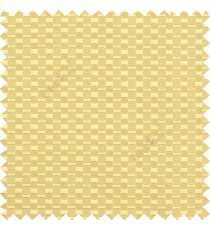 Beige color solid texture surface with concave square oval shape horizontal spring lines vertical small fine stripes poly main curtain