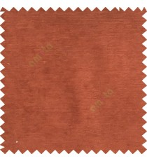 Dark orange color complete plain horizontal texture stripes with chenille base polyester sofa fabric