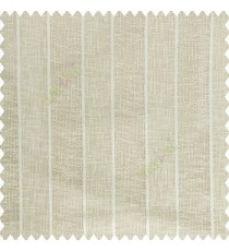 Beige color vertical bold stripes texture finished with transparent net fabric pencil parallel lines polyester sheer curtain