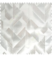 Grey light brown color abstract designs half sharp edges triangles vertical texture designs polyester base fabric main curtain