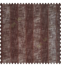 Coffee brown color vertical bold stripes texture finished with transparent net fabric pencil parallel lines polyester sheer curtain