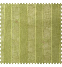 Green color vertical bold stripes texture finished with transparent net fabric pencil parallel lines polyester sheer curtain