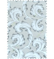 Black white silver colour lilac traditional design polycotton main curtain designs
