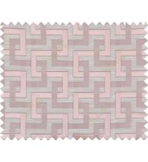 Pink beige colour weave wicker pattern polycotton main curtain designs