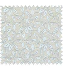 Green beige colour retro organic pattern polycotton main curtain designs