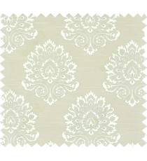 Green beige colour with big damask design polycotton main curtain designs