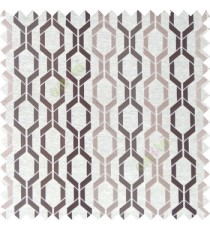 Brown cream color contemporary patterns digital vertical ogee design texture background finished polyester main curtain fabric