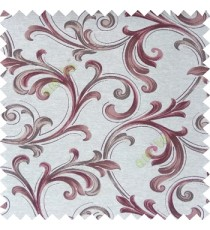 Light brown cream color traditional swirls texture pattern texture background finished polyester main curtain fabric