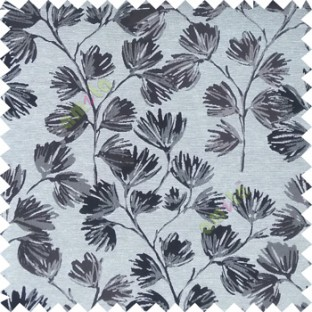 Grey color beautiful flower tree with flower buds texture finished background polyester main curtain fabric