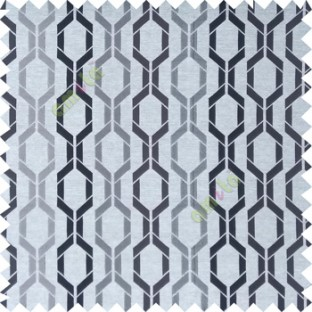 Grey color contemporary patterns digital vertical ogee design texture background finished polyester main curtain fabric
