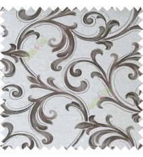 Grey color traditional swirls texture pattern texture background finished polyester main curtain fabric
