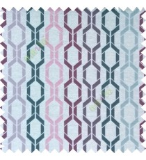 Purple blue cream pink color contemporary patterns digital vertical ogee design texture background finished polyester main curtain fabric