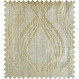 Yellow beige gold colour vertical wavy stripes polycotton main curtain designs