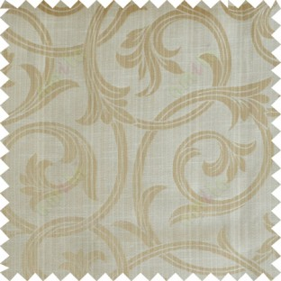 Yellow beige gold colour elegant traditional design polycotton main curtain designs