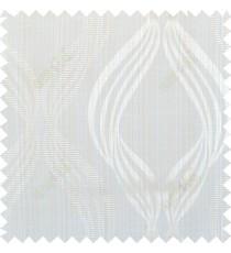 Beige gold white colour vertical wavy stripes polycotton main curtain designs