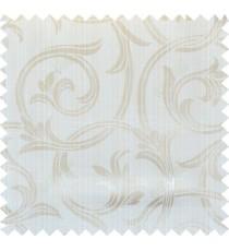 Beige gold white colour elegant traditional design polycotton main curtain designs