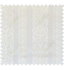 Beige gold white colour vertical traditional stripes polycotton main curtain designs