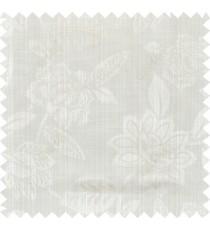 Beige gold white colour natural floral design polycotton main curtain designs