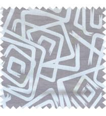 Grey beige brown colour contemporary design polycotton main curtain designs