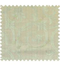 Green yellow beige colour elegant traditional design polycotton main curtain designs