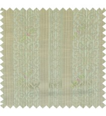 Green yellow beige colour vertical traditional stripes polycotton main curtain designs